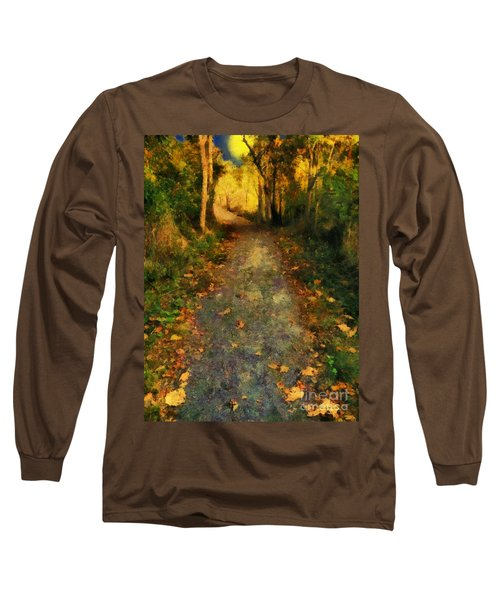Washed In Gold Long Sleeve T-Shirt by RC deWinter