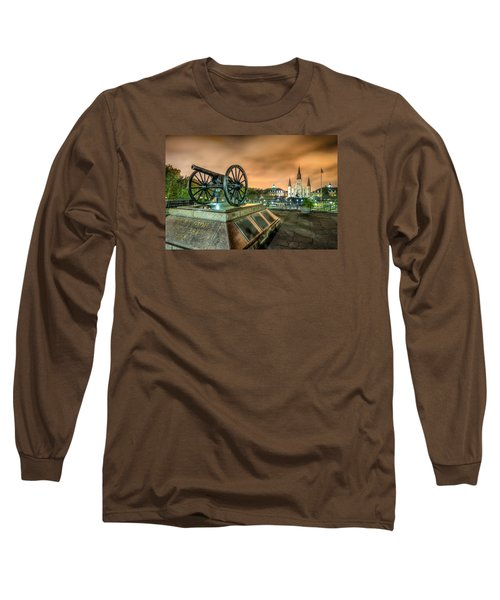 Long Sleeve T-Shirt featuring the photograph Washington Artillery Park by Tim Stanley