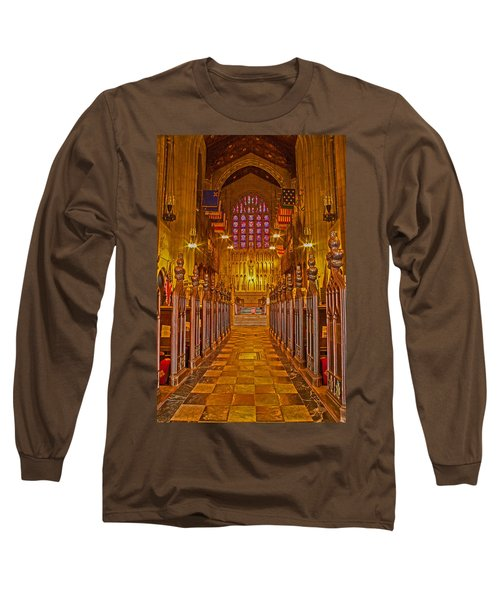 Washington Memorial Chapel Altar Long Sleeve T-Shirt by Michael Porchik