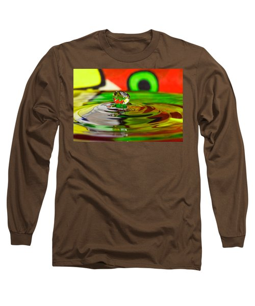 Long Sleeve T-Shirt featuring the photograph Water Drop by Peter Lakomy
