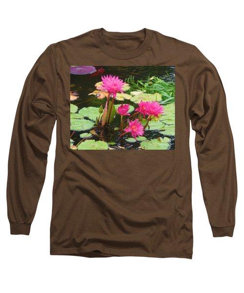 Water Lilies 008 Long Sleeve T-Shirt
