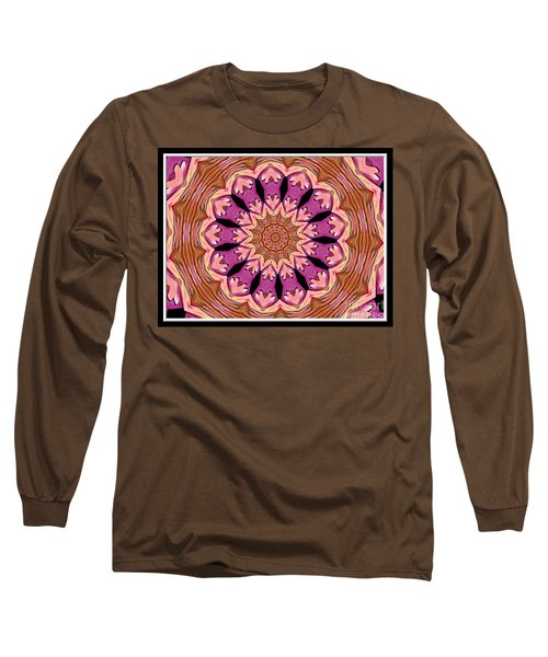 Long Sleeve T-Shirt featuring the photograph Waterlily Flower Kaleidoscope 2 by Rose Santuci-Sofranko