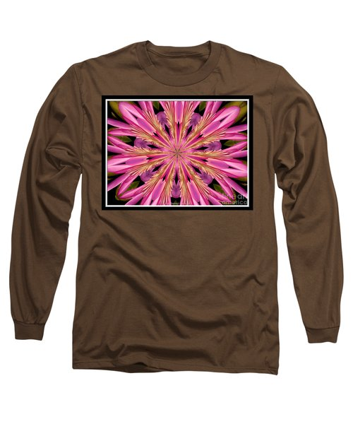 Long Sleeve T-Shirt featuring the photograph Waterlily Flower Kaleidoscope 4 by Rose Santuci-Sofranko