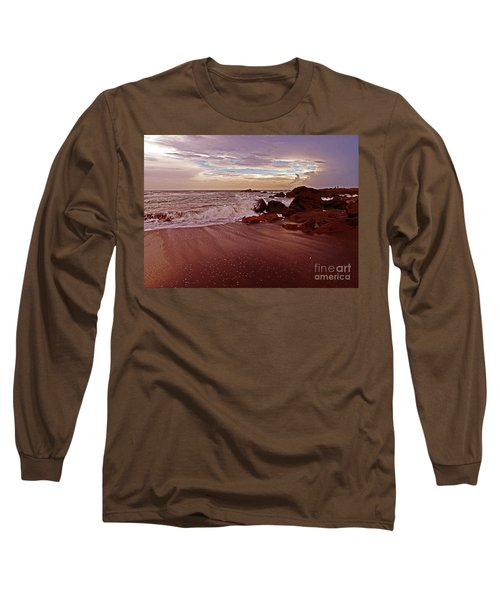 Waves Break Hands Shake Long Sleeve T-Shirt by Lydia Holly