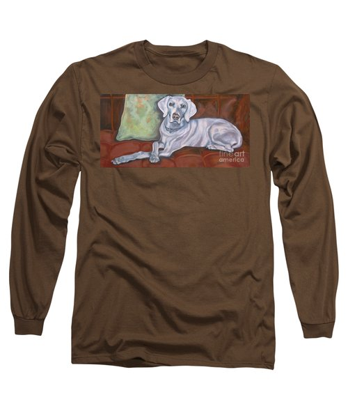 Weimaraner Reclining Long Sleeve T-Shirt