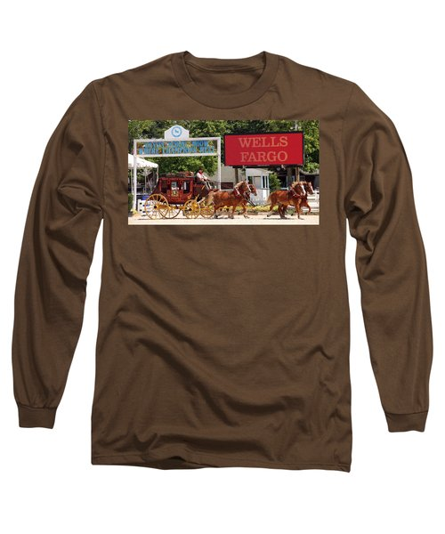Long Sleeve T-Shirt featuring the photograph Wells Fargo At Devon by Alice Gipson