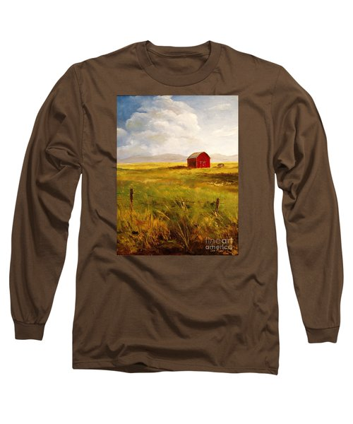 Western Barn Long Sleeve T-Shirt by Lee Piper