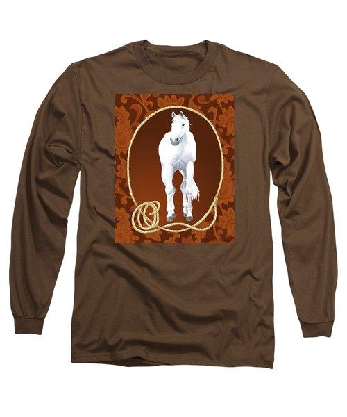 Western Roundup Standing Horse Long Sleeve T-Shirt