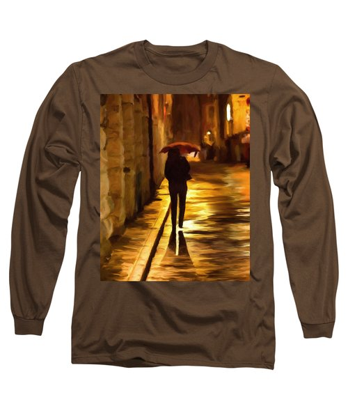 Wet Rainy Night Long Sleeve T-Shirt