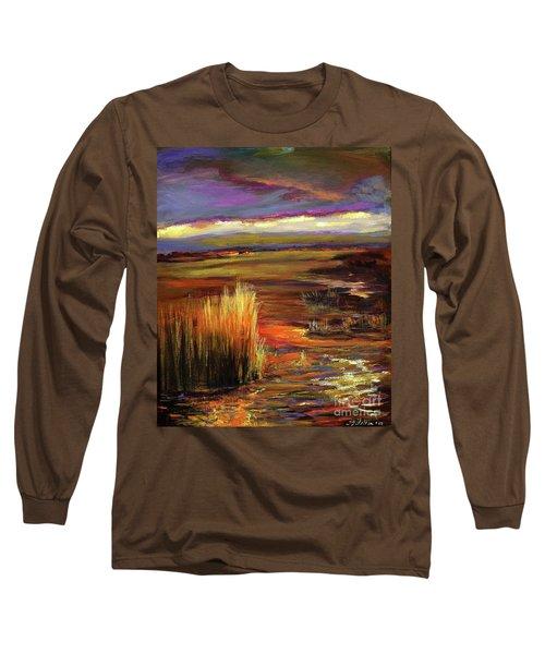 Wetlands Sunset Iv Long Sleeve T-Shirt