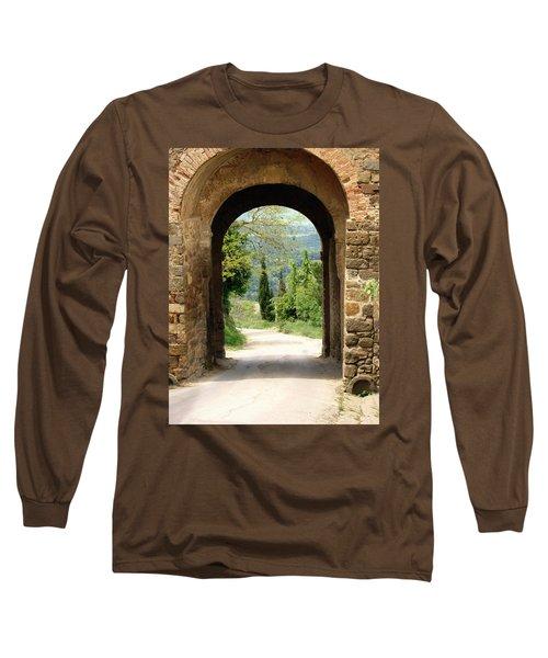 What Lies Ahead Long Sleeve T-Shirt by Ellen Henneke