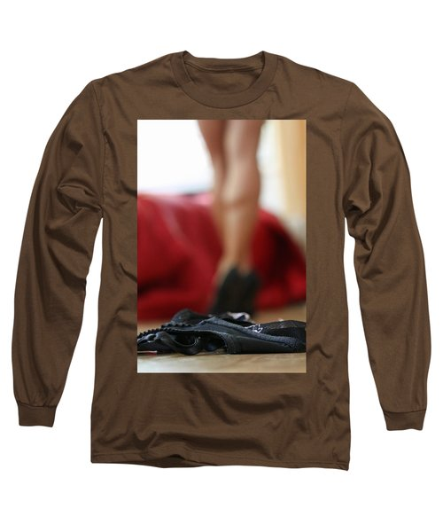Long Sleeve T-Shirt featuring the pyrography What's Next? by Shoal Hollingsworth