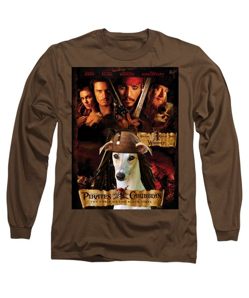 Whippet Art - Pirates Of The Caribbean The Curse Of The Black Pearl Movie Poster Long Sleeve T-Shirt