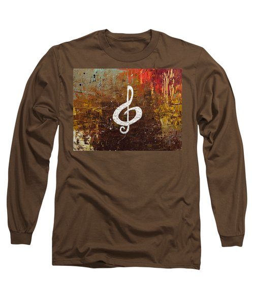 White Clef Long Sleeve T-Shirt