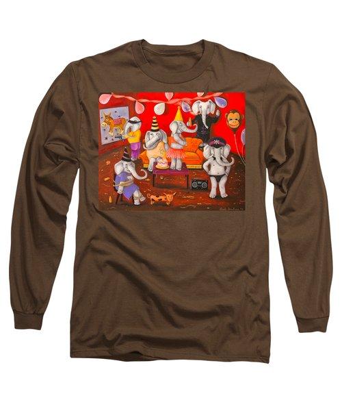 White Elephant Party Edit 5 Long Sleeve T-Shirt