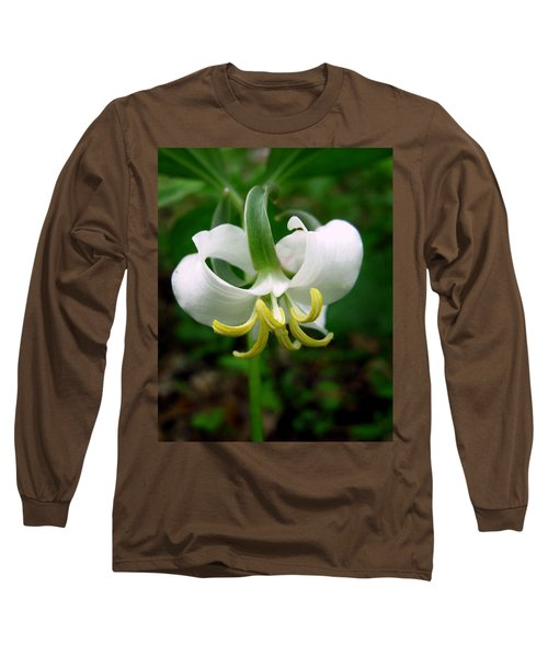 White Flowering Rose Trillium Long Sleeve T-Shirt