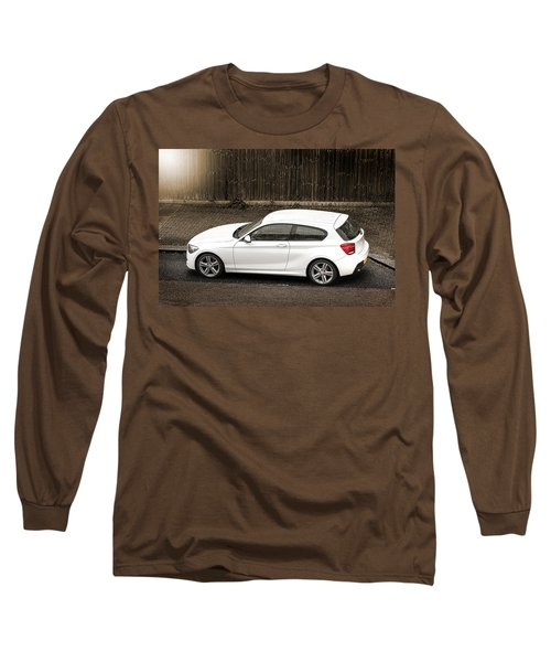 White Hatchback Car Long Sleeve T-Shirt