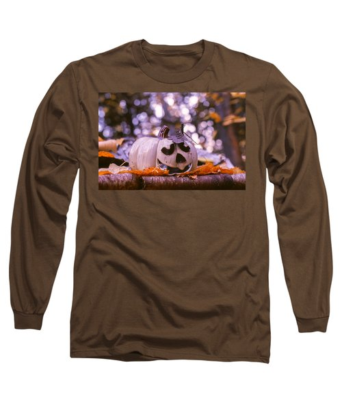 Long Sleeve T-Shirt featuring the photograph White Pumpkin by Aaron Aldrich