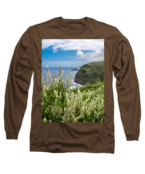 Wild Flowers At Pololu Long Sleeve T-Shirt by Denise Bird