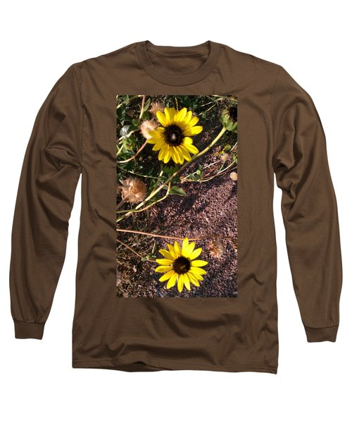 Long Sleeve T-Shirt featuring the photograph Wild Sunflowers by Fortunate Findings Shirley Dickerson