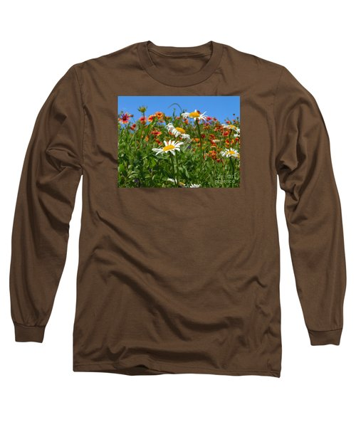 Long Sleeve T-Shirt featuring the photograph Wild White Daisies #1 by Robert ONeil