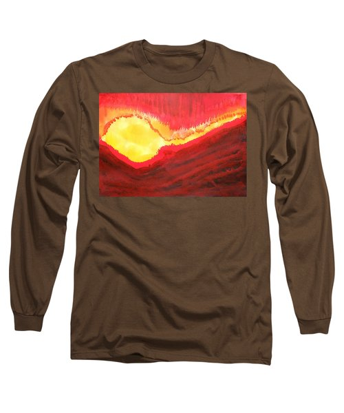 Wildfire Original Painting Long Sleeve T-Shirt