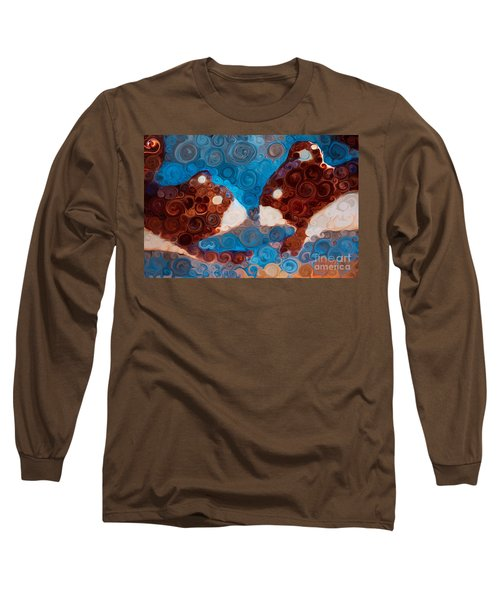 Long Sleeve T-Shirt featuring the painting Will You Be My Beaver by Omaste Witkowski