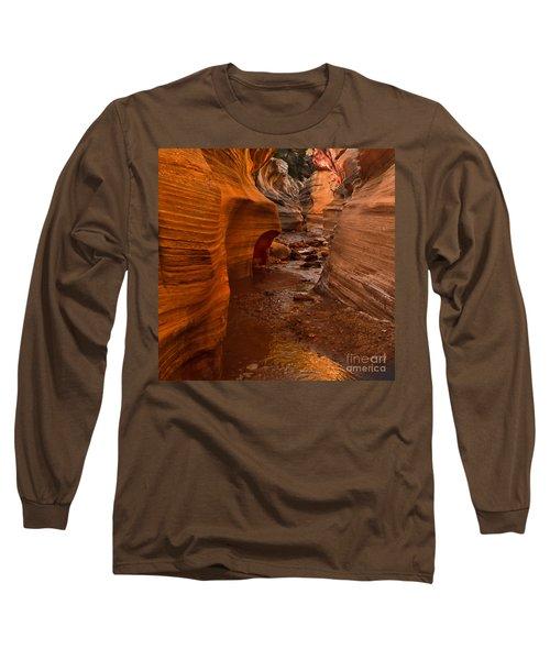 Willis Creek Slot Canyon Long Sleeve T-Shirt by Robert Bales