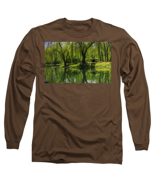 Willows Weep Into Their Reflection  Long Sleeve T-Shirt