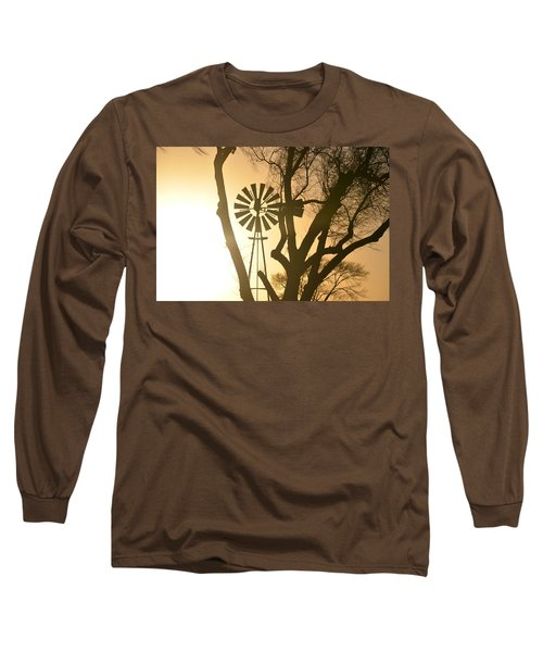 Spinning In The Sundown Long Sleeve T-Shirt by Clarice  Lakota