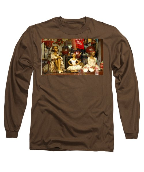 Long Sleeve T-Shirt featuring the photograph Window Shopping by Leena Pekkalainen