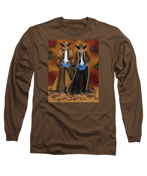 Wine And Roses Long Sleeve T-Shirt by Lance Headlee
