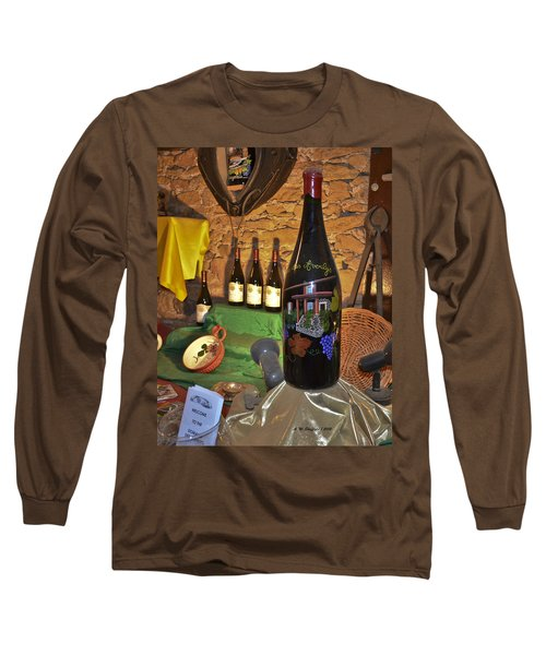 Wine Bottle On Display Long Sleeve T-Shirt