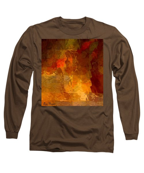 Wine By Candlelight Long Sleeve T-Shirt by Lisa Kaiser