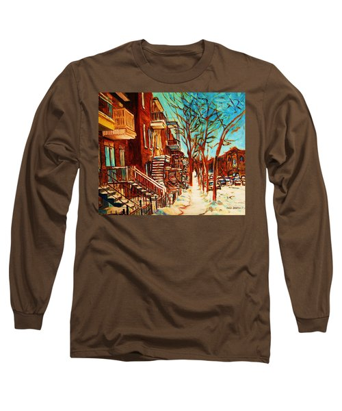 Winter Staircase Long Sleeve T-Shirt by Carole Spandau