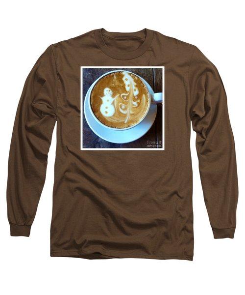 Winter Warmth Latte Long Sleeve T-Shirt by Susan Garren