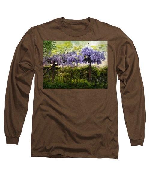 Wisteria Trellis Long Sleeve T-Shirt