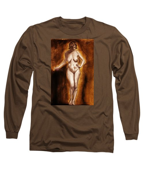 Women With Curves Are Beautiful 2 Long Sleeve T-Shirt by Michael Cross