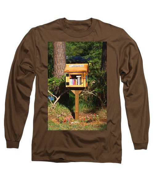 Long Sleeve T-Shirt featuring the photograph World's Smallest Library by Gordon Elwell
