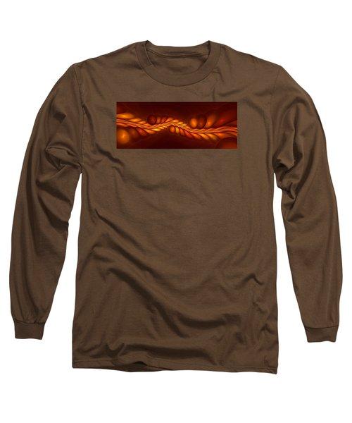 Worm Sign Orange Long Sleeve T-Shirt
