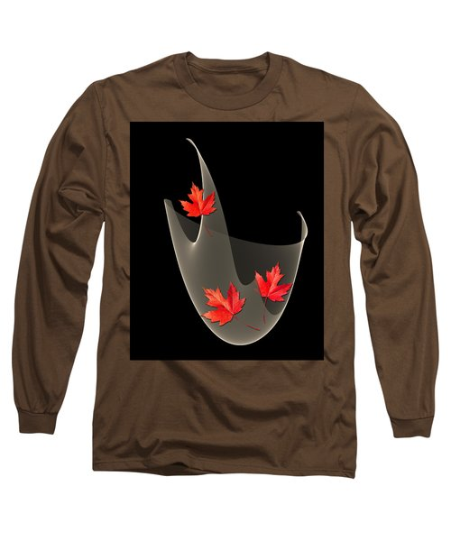 Woven Maple Leaves Long Sleeve T-Shirt
