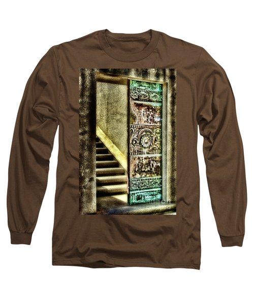Wrigley's Tower Bronze Doors By Diana Sainz Long Sleeve T-Shirt