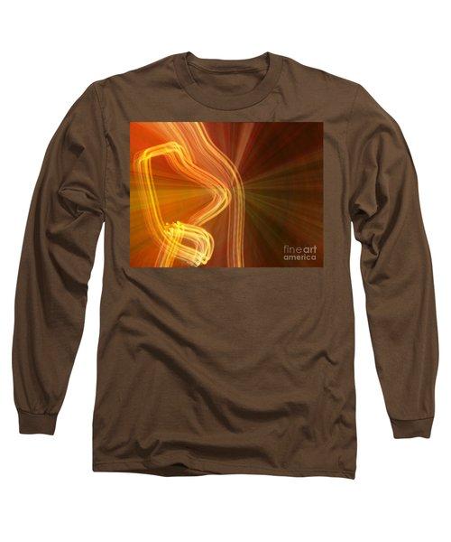Long Sleeve T-Shirt featuring the photograph Write Light Shapes by Luc Van de Steeg