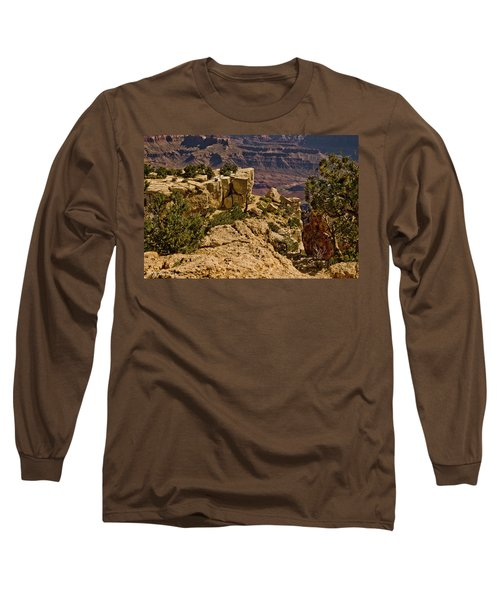 Long Sleeve T-Shirt featuring the photograph Yaki Point 3 The Grand Canyon by Bob and Nadine Johnston