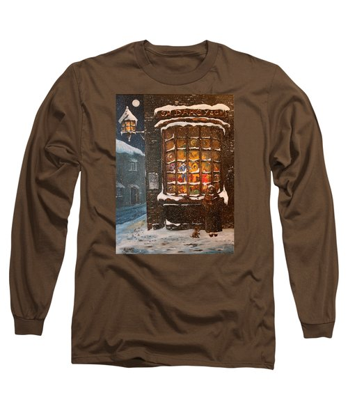 Long Sleeve T-Shirt featuring the painting Ye Old Toy Shoppe by Jean Walker