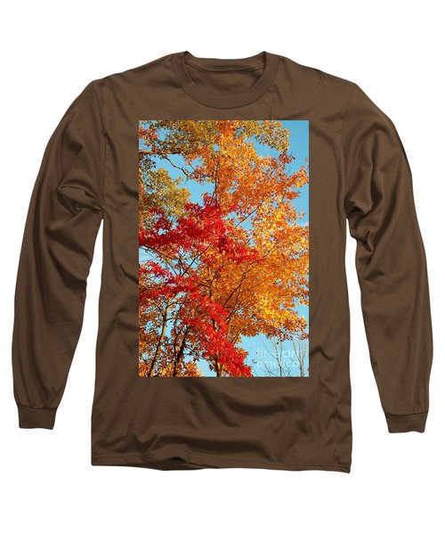 Yellow And Red Long Sleeve T-Shirt by Patrick Shupert