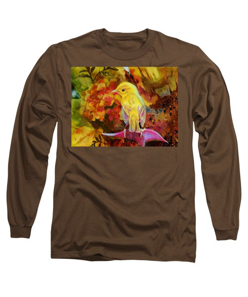 Yellow Bird Long Sleeve T-Shirt by Catf