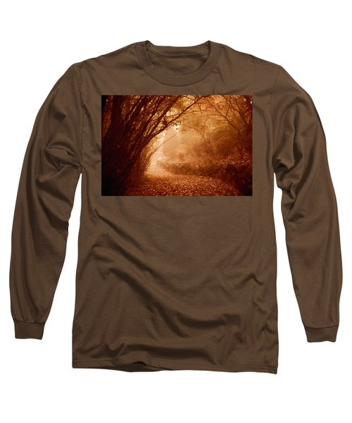 Yellow Leaf Road Long Sleeve T-Shirt