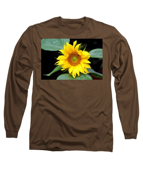 Yellow Sunflower Long Sleeve T-Shirt by Trina  Ansel