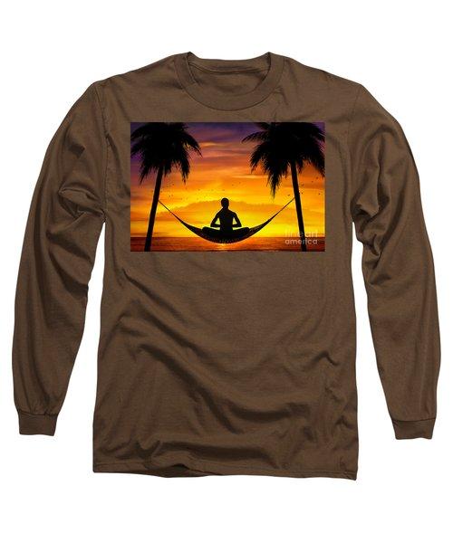 Yoga At Sunset Long Sleeve T-Shirt